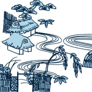 茶屋辻(ちゃやつじ)の柄の着物は夏に着よう