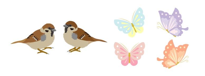 鳥・動物・昆虫文様