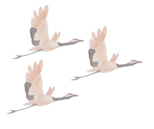 鶴柄の着物は正月・通年に着よう
