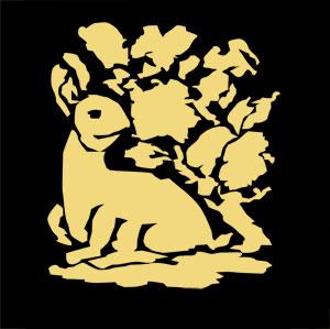 花兎の着物の柄の画像