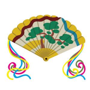 檜扇の着物の柄の画像