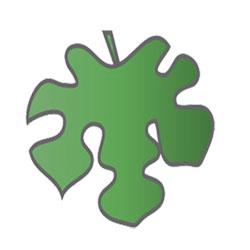 梶の葉の着物の柄の画像