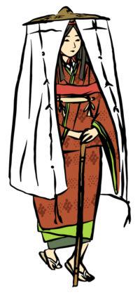 市女笠の画像