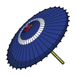 傘の着物の柄の画像