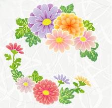 菊の丸の着物の柄の画像