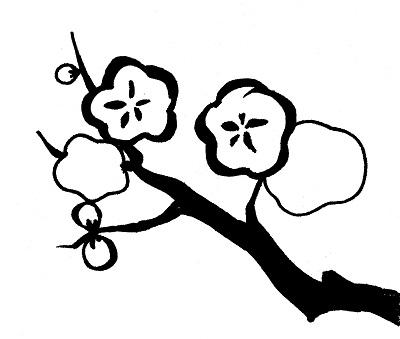 光琳梅の着物の柄の画像