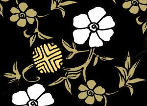 笹蔓の着物の柄の画像