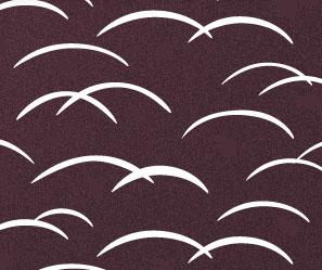 芝草の着物の柄の画像