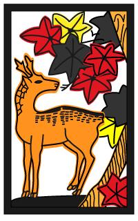 鹿(しか)柄の着物は秋に着よう