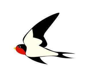 燕(つばめ)柄の着物は春に着よう