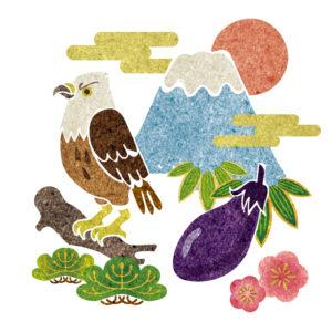 鷹の着物の柄の画像