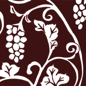 葡萄唐草の着物の柄の画像