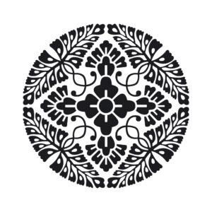 八つ藤の丸の着物の柄の画像