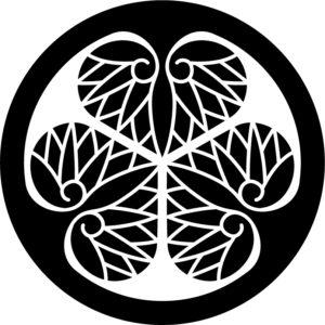 三つ葉葵の着物の柄の画像