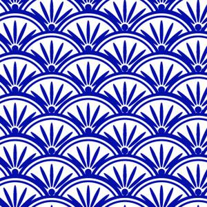 花青海波の着物の柄の画像