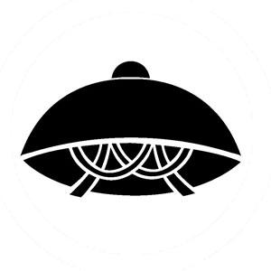 笠の着物の柄の画像