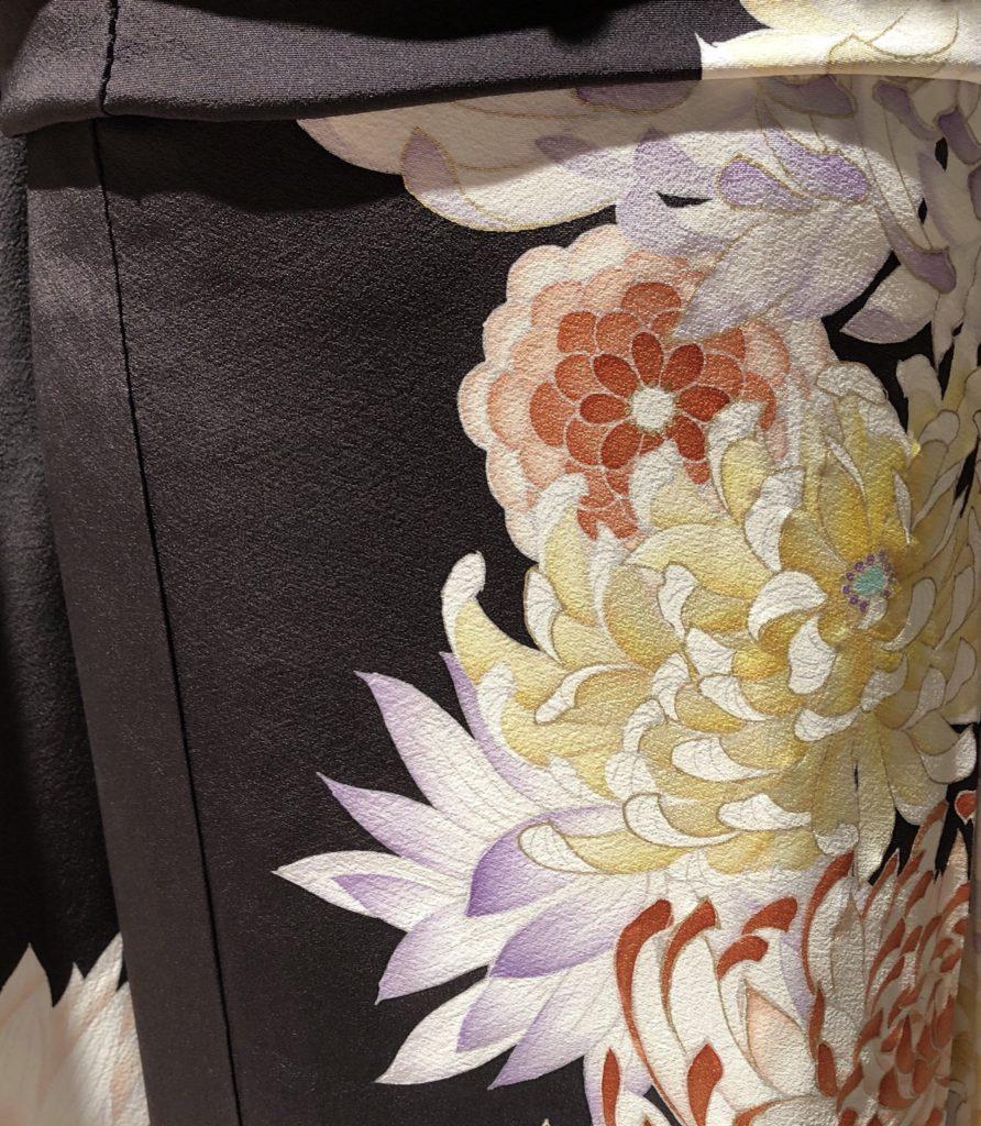 乱菊の柄の着物