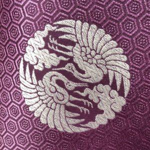 雲鶴の着物の柄の画像
